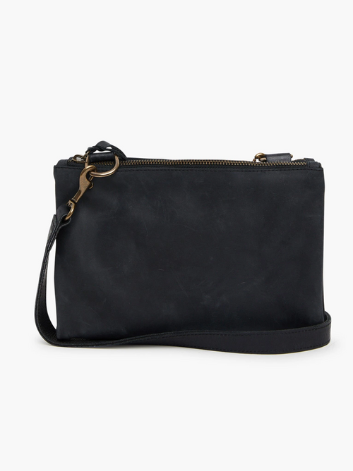Martha Snap Crossbody in Black