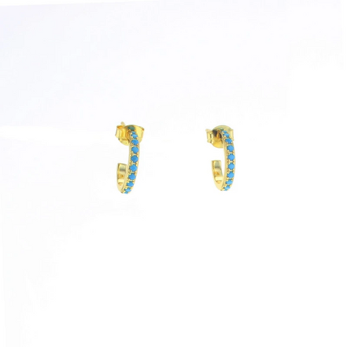 Isis Earrings in Gold and Turquoise