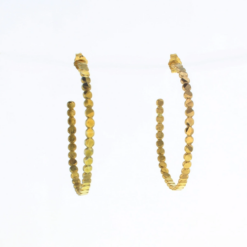Marble Hoop Earrings in Gold