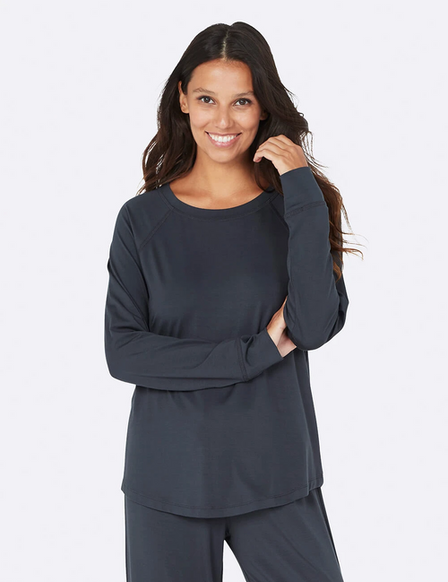 Goodnight Raglan Sleep Top in Storm