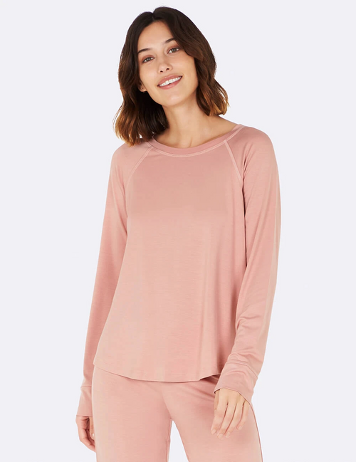 Goodnight Raglan Sleep Top in Dusty Pink