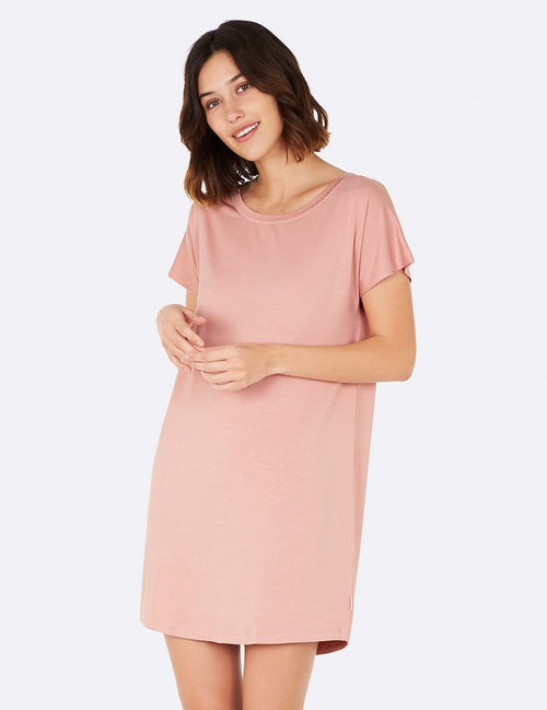 Goodnight Sleep Dress in Dusty Pink