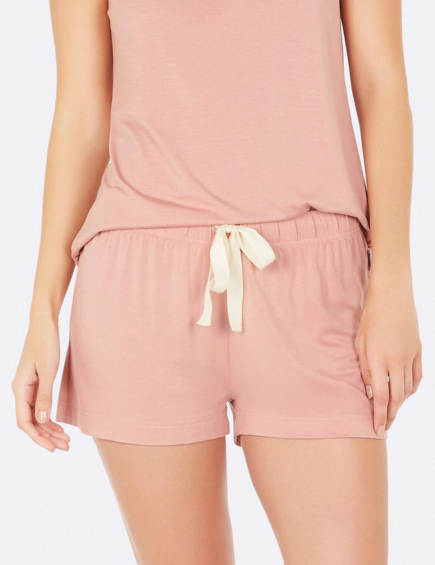 Goodnight Sleep Shorts in Dusty Pink