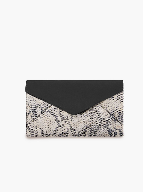 Solome Long Wallet in Black/Snake