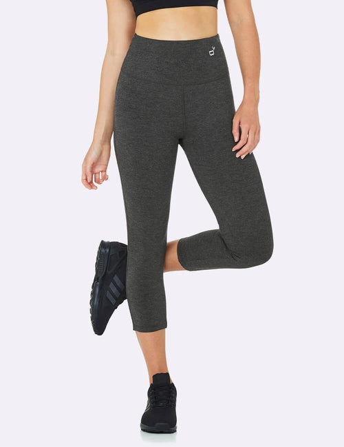 Active High-Waisted 3/4 Leggings in Grey