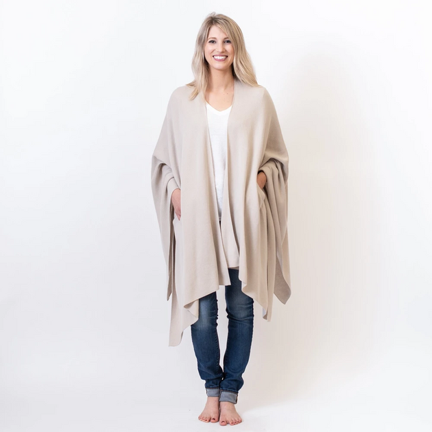 Organic Travel Wrap in Birch