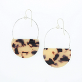 Ramona Earrings in Silver & Blonde Tortoise