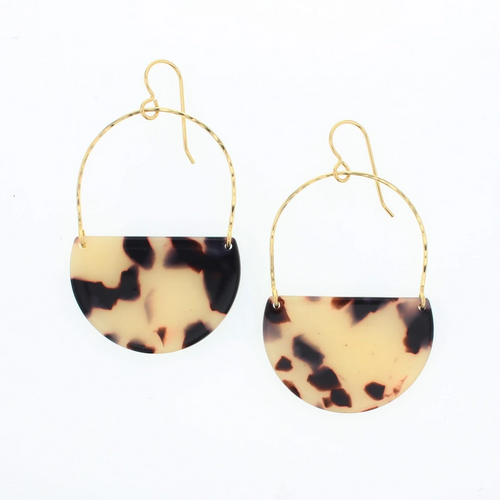 Ramona Earrings in Gold & Blonde Tortoise