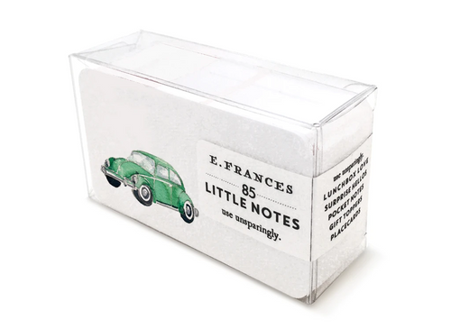 Green Buggy Boxed Little Notes