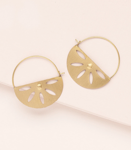 Chameli Petal Hoop Earrings