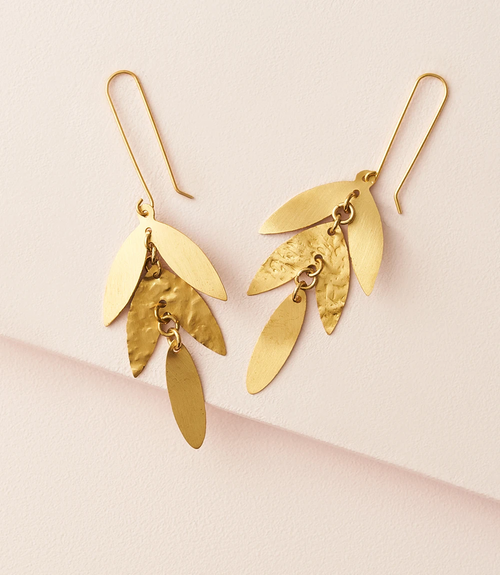 Chameli Leaf Drop Earrings