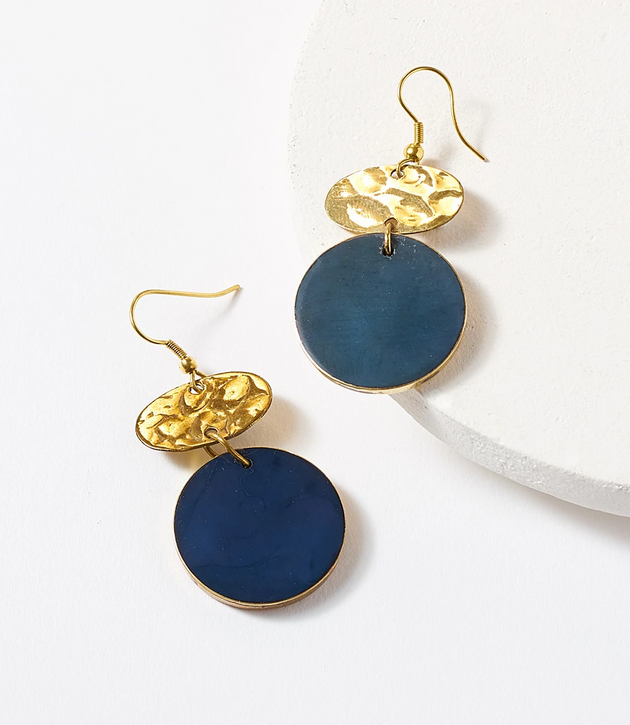 Ria Cobalt Drop Earrings