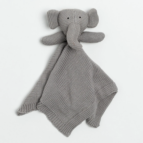 Knit Organic Cotton Elephant Lovey