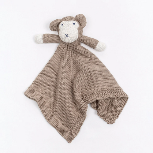 Knit Organic Cotton Monkey  Lovey