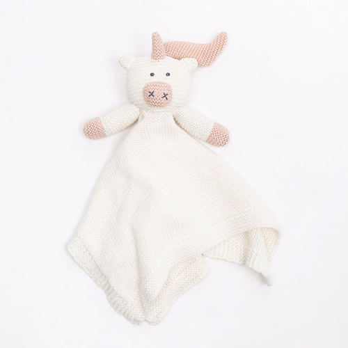 Knit Organic Cotton Unicorn Lovey