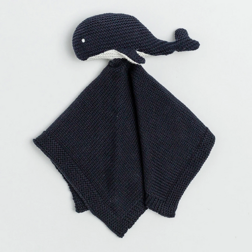Knit Organic Cotton Whale Lovey