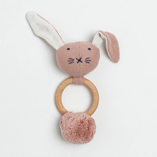 Organic Cotton Bunny Rattle