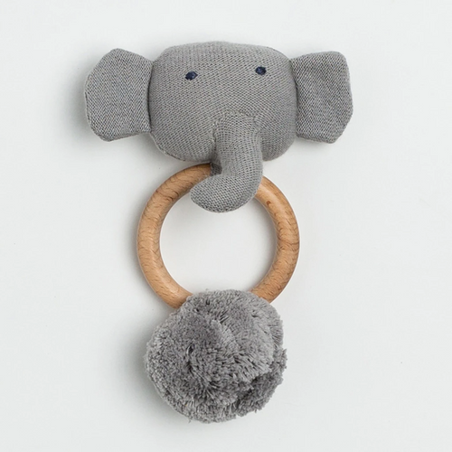 Organic Cotton Elephant Rattle