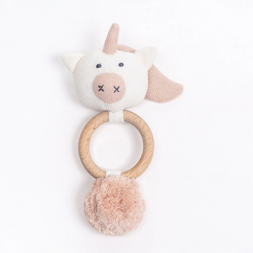 Organic Cotton Unicorn Rattle