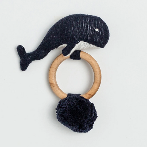 Organic Cotton Whale Rattle