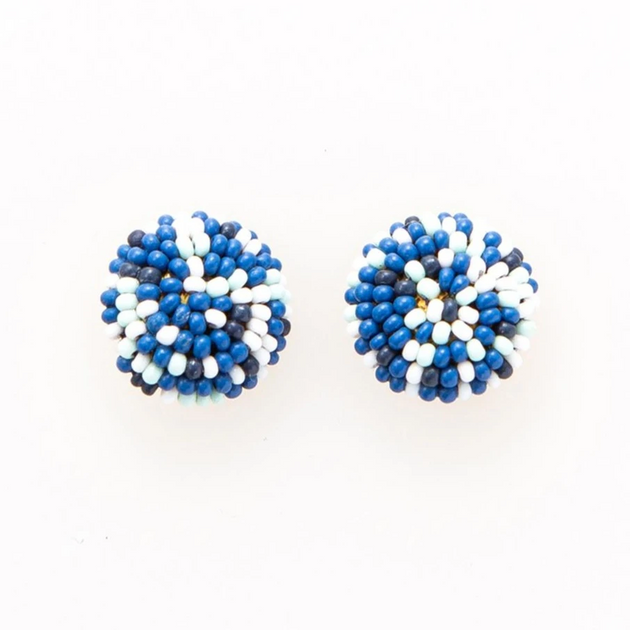 Button Post Beaded Earring