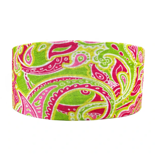 Pink Paisley Tube Turban Headband