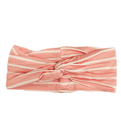 Pink Striped Twist Headband