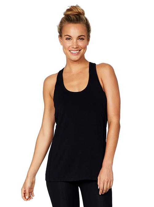 Racerback Active Tank in Black