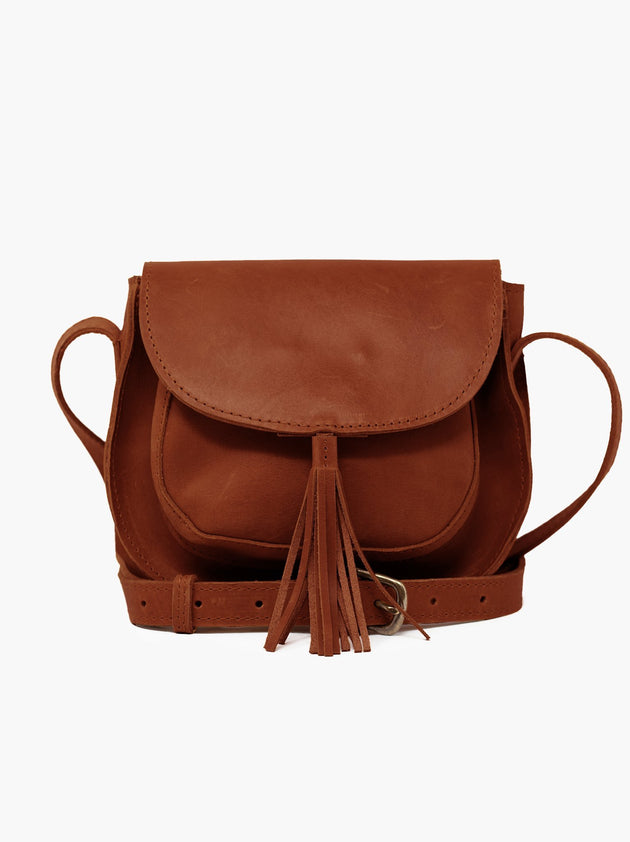 Maria Tassel Crossbody in Whiskey