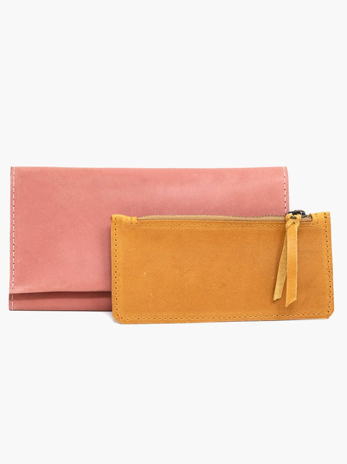 Debre Deluxe Wallet in Rose & Cognac