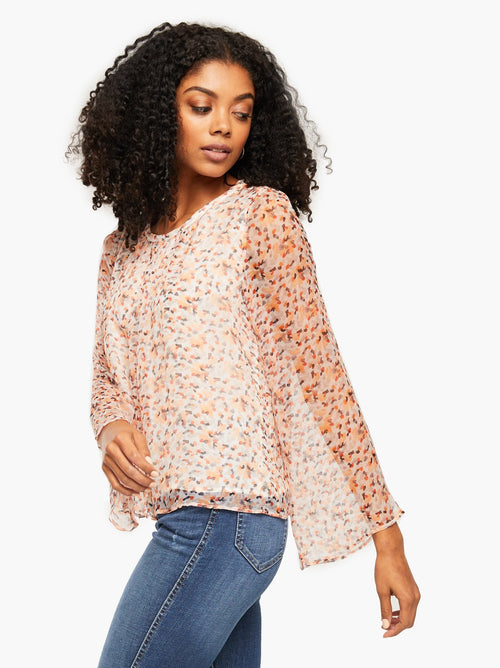 Jasmine Bell Blouse in Confetti Dot