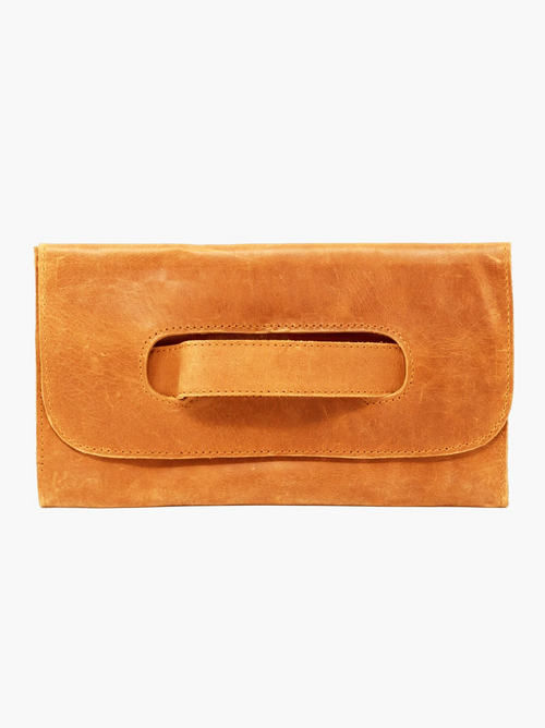 Mare Handled Clutch in Cognac