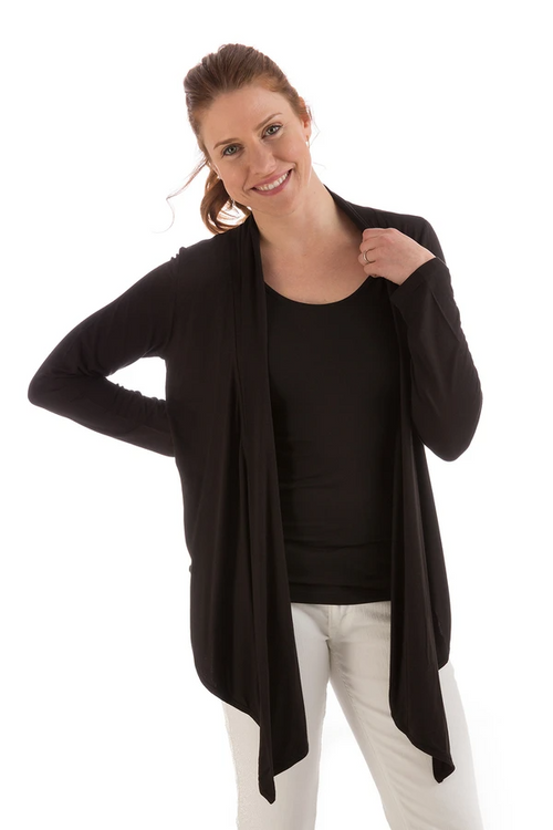Sophie Cardigan Wrap in Black