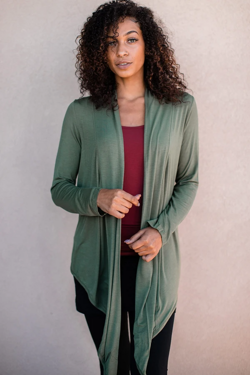 Sophie Cardigan Wrap in Moss