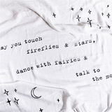 Organic Swaddle Blanket: May You Touch Fireflies