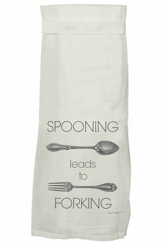 Spooning Leads to Forking Hand Towel