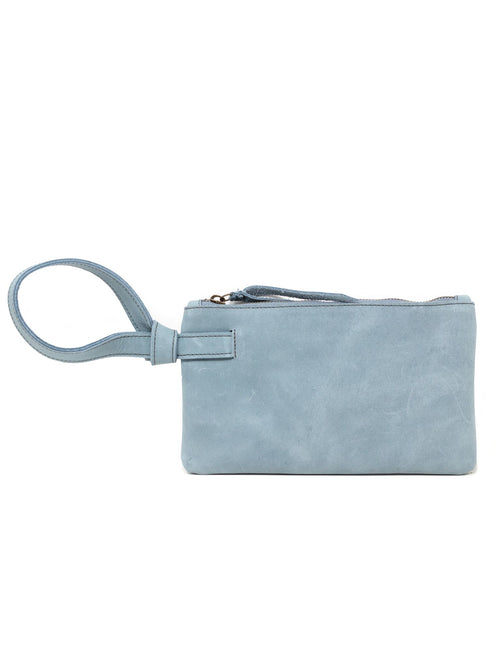 Rachel Wristlet in Ice Blue