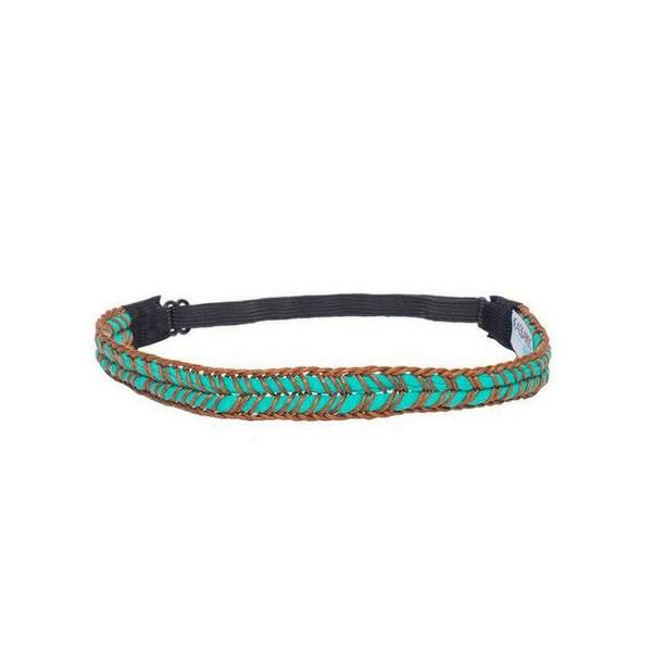 Teal Braid Headband