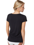 V-Neck Shirt in Black