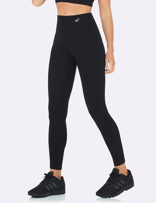 Active High-Waisted Full Length Leggings in Black