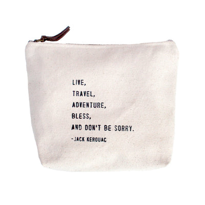 Quote Pouch: Live, Travel, Adventure...