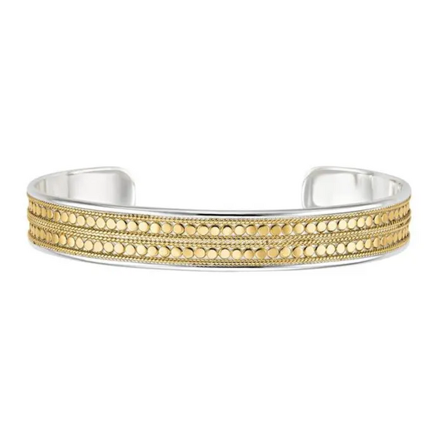 Double Beaded Gold Cuff
