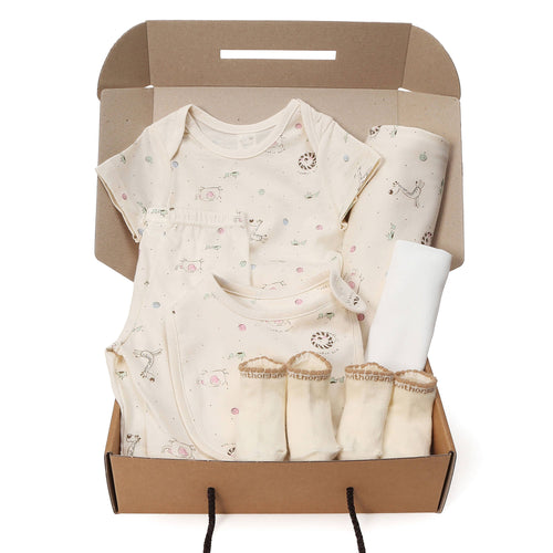 Organic Baby 7 Pieces Gift Set - New Animal