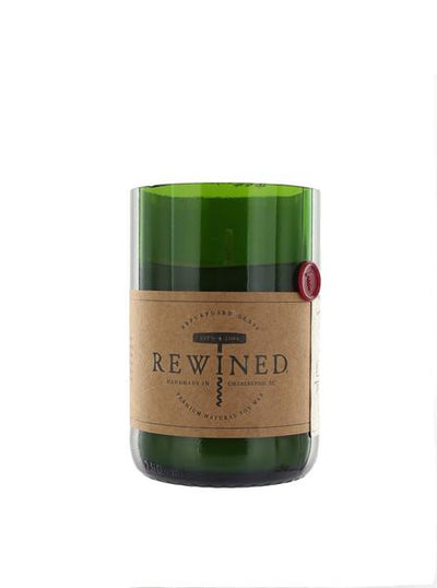 Recycled Wine Bottle Soy Wax and Cotton Wick Candle Green Roost Culpeper Virginia Boutique