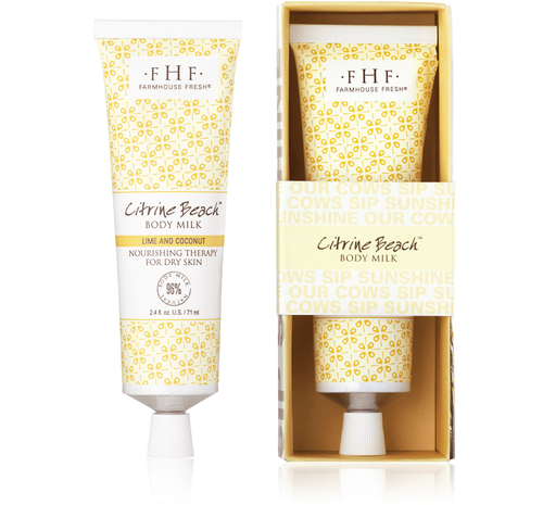 Citrine Beach Body Milk Travel Tube