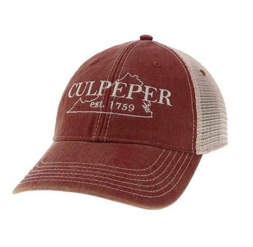Culpeper Trucker Hat in Red