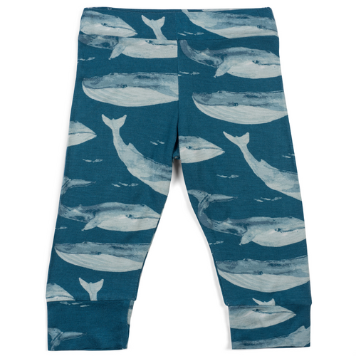 Bamboo Leggings in Blue Whales