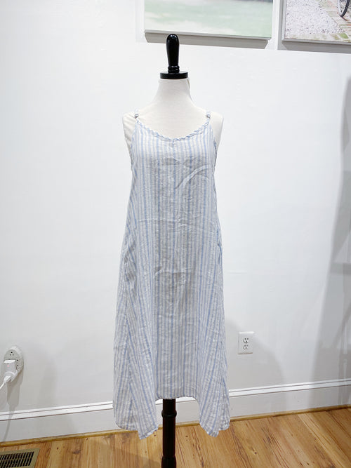 Fairie Dress in Striped Linen