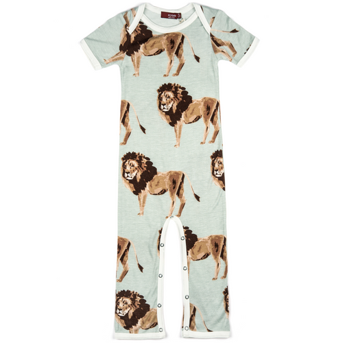 Bamboo Romper in Lions