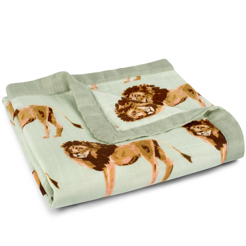 Bamboo Big Lovey Blanket in Lions